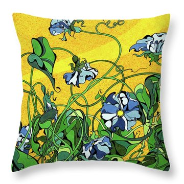 Glory In The Flower Throw Pillow