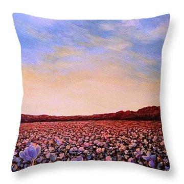 Glory Of Cotton Throw Pillow