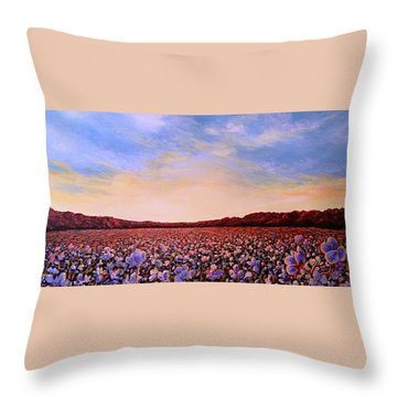 Glory Of Cotton Throw Pillow