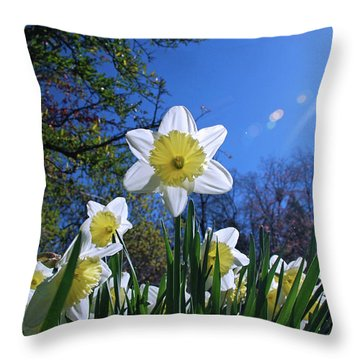Glory Of Spring Throw Pillow