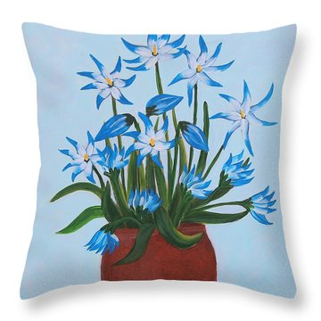 Glory Of The Snow Throw Pillow by Barbara Griffin