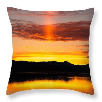Throw Pillow featuring the photograph Glory Pillar by Jan Davies