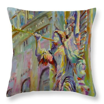 Throw Pillow featuring the painting Glory To God In The Highest by Chris Brandley