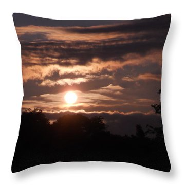 Throw Pillow featuring the photograph Glory Train In The Sky by Diannah Lynch