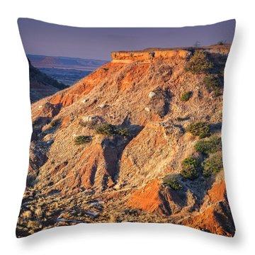 Gloss Mountain Sunrise Throw Pillow