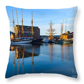 Throw Pillow featuring the photograph Gloucester Docks by Colin Rayner