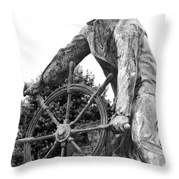 Throw Pillow featuring the photograph Gloucester Fisherman's Memorial by Mitch Cat