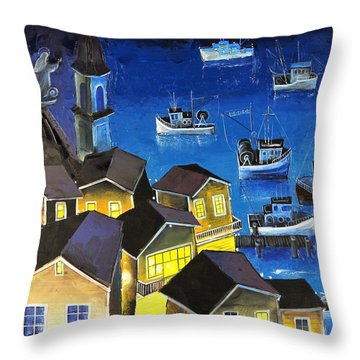 Glouchester Harbor Throw Pillow
