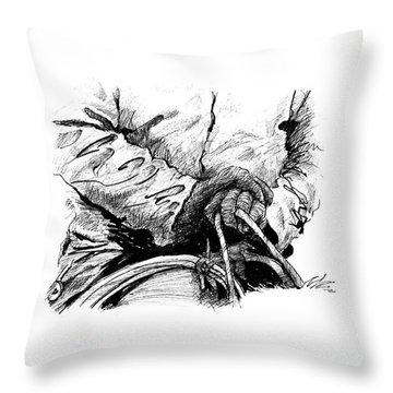 Gloved Winter Cattleman Throw Pillow