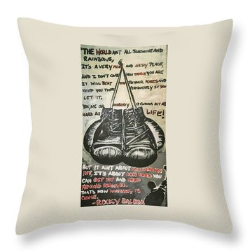 Gloves Of Life Throw Pillow