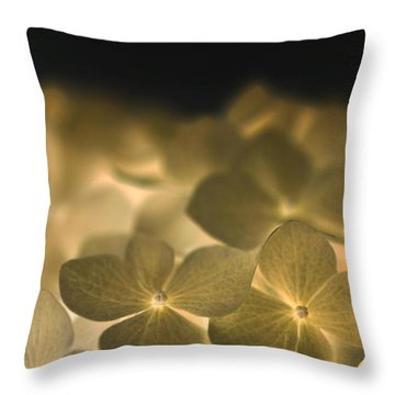 Throw Pillow featuring the photograph Glow Blossoms by Writermore Arts