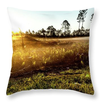 Throw Pillow featuring the photograph Glow by Eric Christopher Jackson