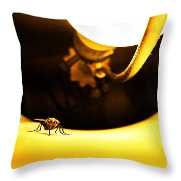 Glow Fly Throw Pillow