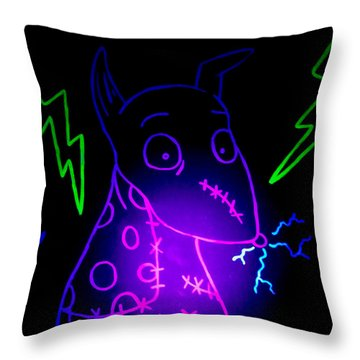 Glow Frankenweenie Sparky Throw Pillow