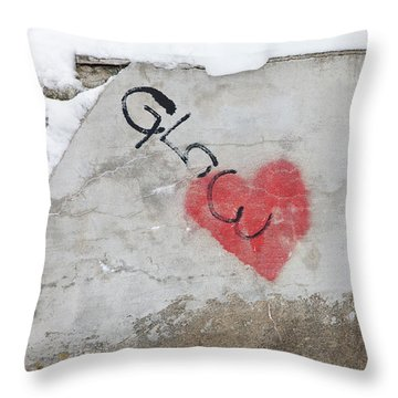 Throw Pillow featuring the photograph Glow Heart by Art Block Collections