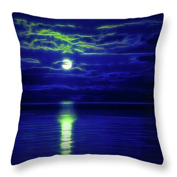 Glow In The Dark Amazing Sunset  Throw Pillow