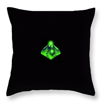 Throw Pillow featuring the mixed media Glow by Kevin Caudill
