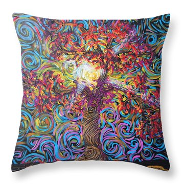 Glow Of Love Throw Pillow