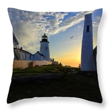 Glow Of Morning Throw Pillow