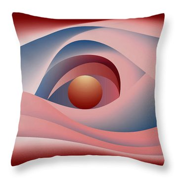 Glow Over The Sea Throw Pillow by Leo Symon