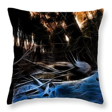 Glow River Throw Pillow