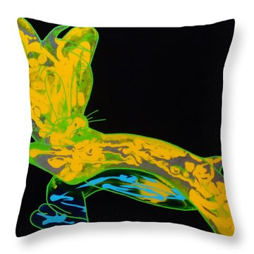 Glow Stick Throw Pillow