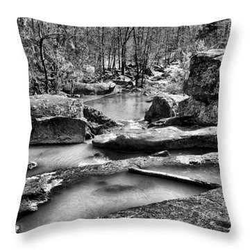 Throw Pillow featuring the digital art Glow Water by Greg Sharpe
