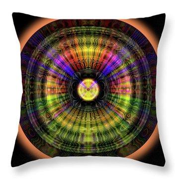 Throw Pillow featuring the digital art Glow Wheel Eight by Visual Artist Frank Bonilla