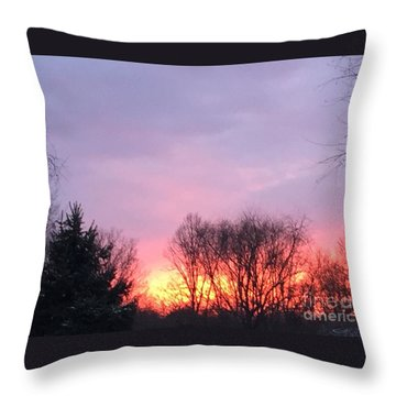 Glowing Almost Gone Throw Pillow