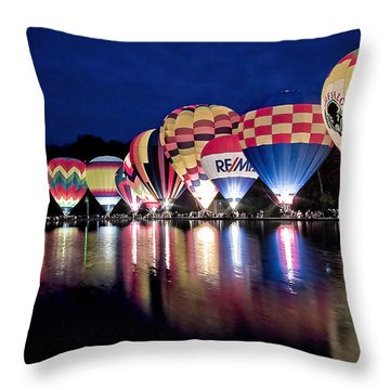 Glowing Balloons Throw Pillow