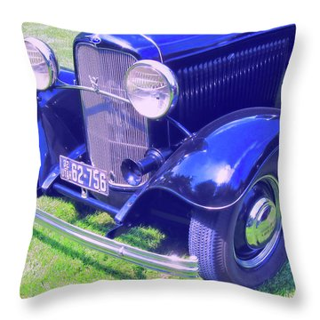 Glowing Blue Throw Pillow