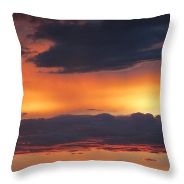 Glowing Clouds Throw Pillow