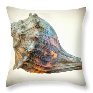 Throw Pillow featuring the photograph Glowing Conch Shell by Gary Slawsky