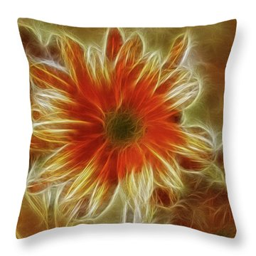Glowing Flower Throw Pillow