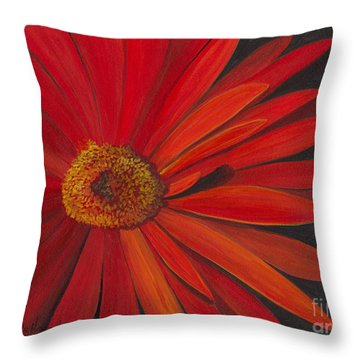 Glowing Gerber Throw Pillow