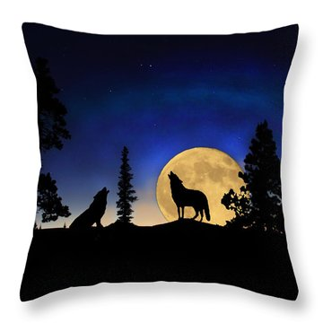 Throw Pillow featuring the photograph Glowing Horizon by Shane Bechler