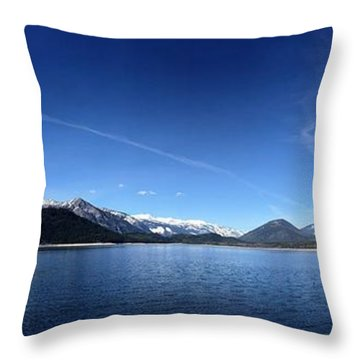 Glowing In The Blue Throw Pillow