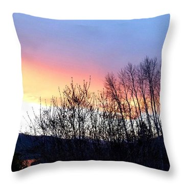 Throw Pillow featuring the photograph Glowing Kalamalka Lake by Will Borden