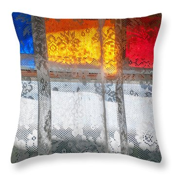 Glowing Lace Throw Pillow by Christopher Holmes