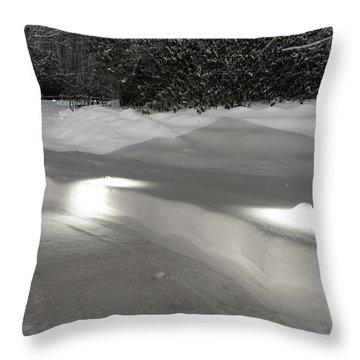 Glowing Landscape Lighting Throw Pillow