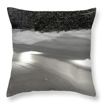 Glowing Landscape Lighting Throw Pillow