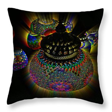 Glowing Lanterns Throw Pillow