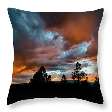 Glowing Mists Throw Pillow