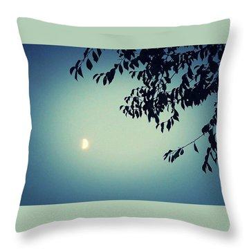Glowing Moon  Throw Pillow