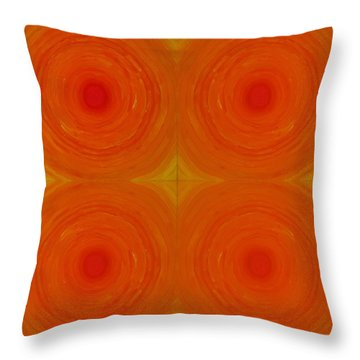 Glowing Orange Throw Pillow