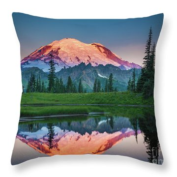 Glowing Peak - August Throw Pillow