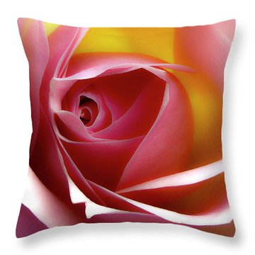 Glowing Rose Hdr Throw Pillow