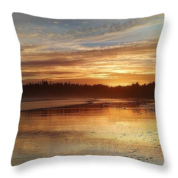 Long Beach I, British Columbia Throw Pillow
