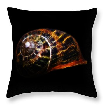 Glowing Shell Throw Pillow