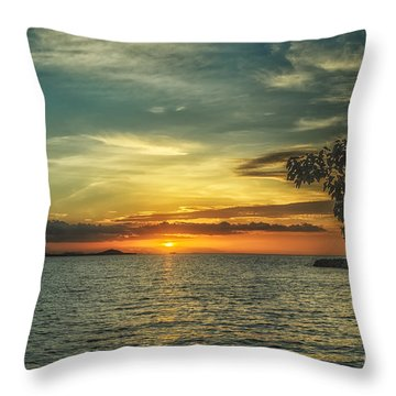 Glowing Sky Throw Pillow by Michelle Meenawong